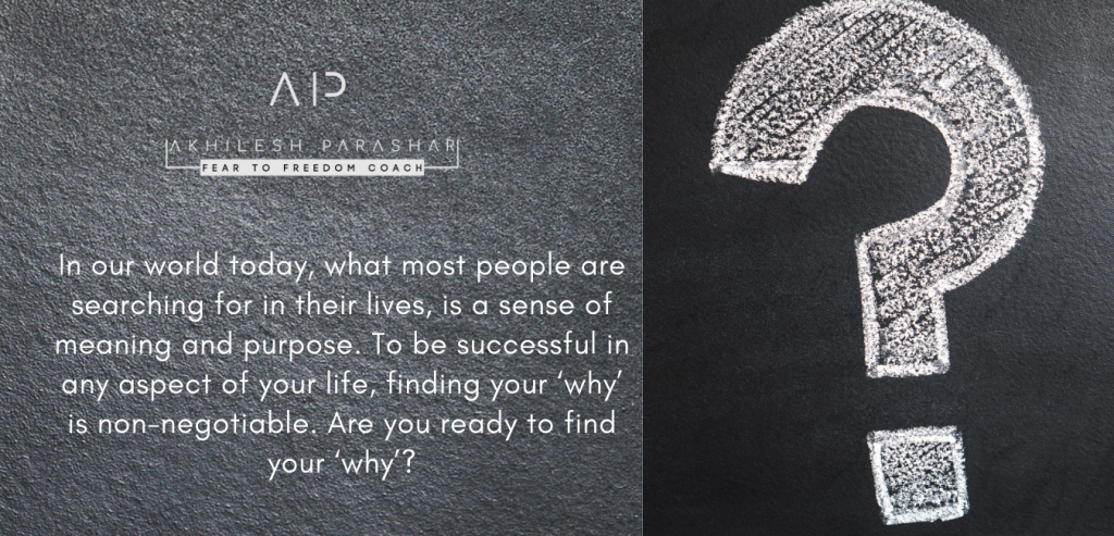 "Are You Ready To ""Find Your Why""?"